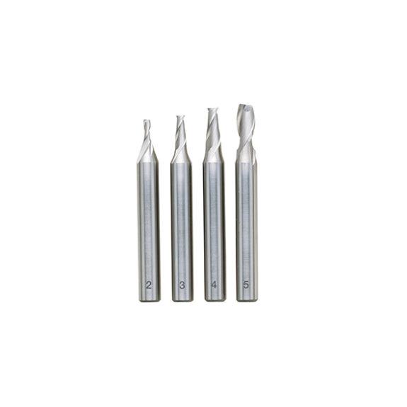 24610 Skaftfrässats (2 – 5 mm), 4 delar